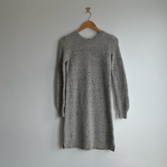 c5be7263427 Madewell Donegal Button Back Sweater Dress